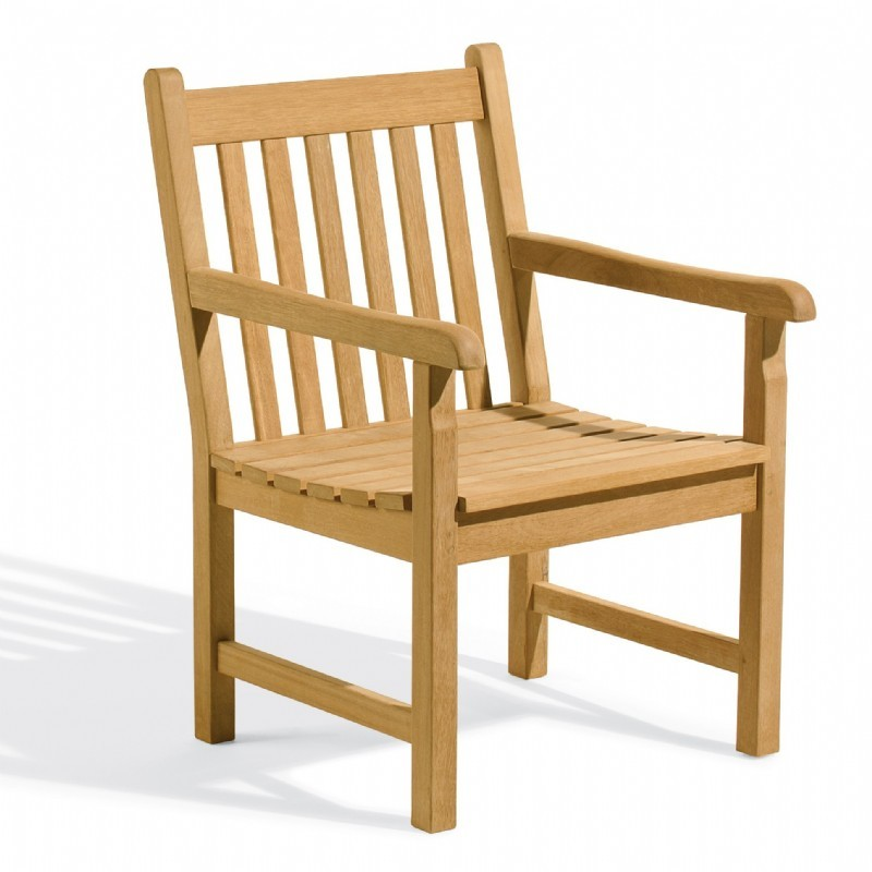 Outdoor Furniture: Oxford Garden: Shorea Wood Classic Outdoor Arm Chair