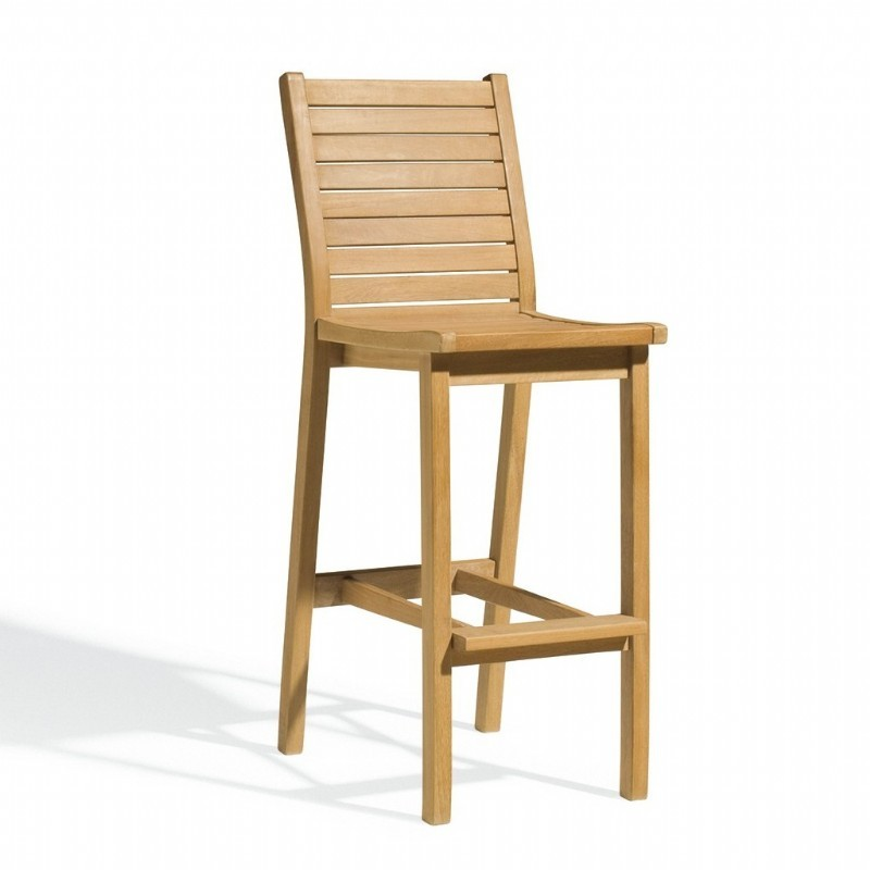 Outdoor Furniture: Oxford Garden: Shorea Wood Dartmoor Outdoor Bar Chair Natural