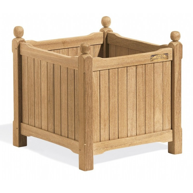 Shorea Wood English Outdoor Planter 19 inch