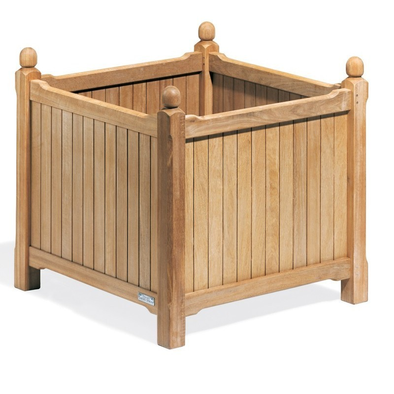 Shorea Wood English Outdoor Planter 28 inch