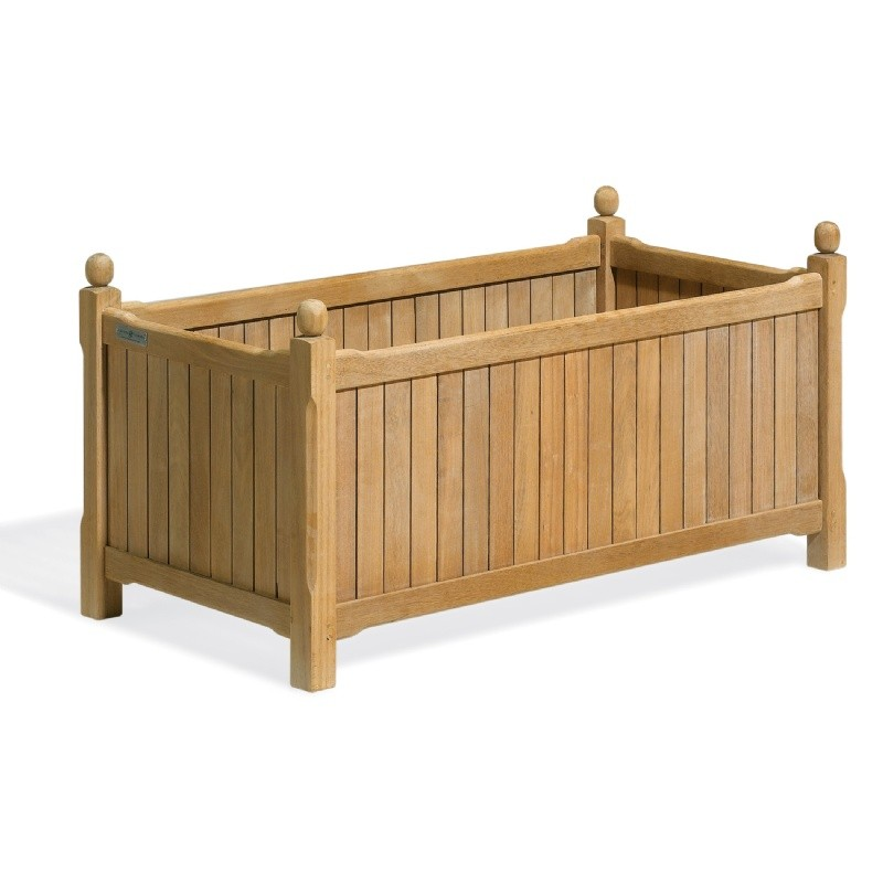 Shorea Wood English Outdoor Planter 38 inch