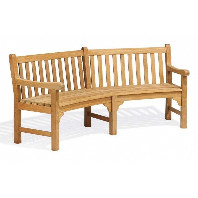 Patio Bench on Patio Benches   Essex Wood Patio Curved Bench 83 Inch