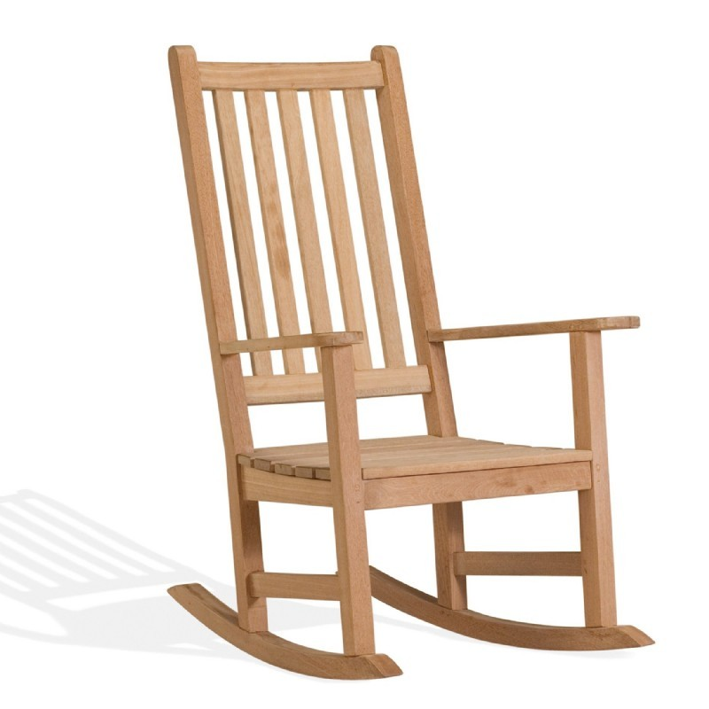 Heavy Duty Folding Outdoor Rocking Chair: Oxford Garden Franklin Outdoor Rocking Chair