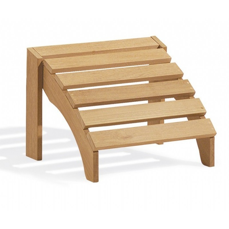 Shorea Wood Outdoor Adirondack Foot Stool