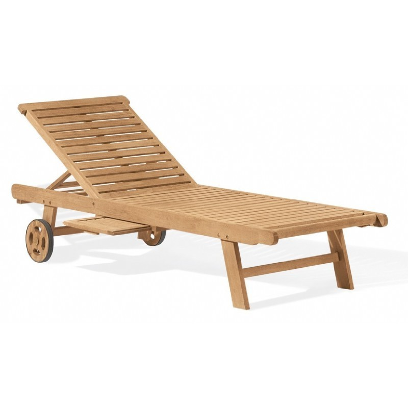 Shorea Wood Oxford Outdoor Chaise Lounge
