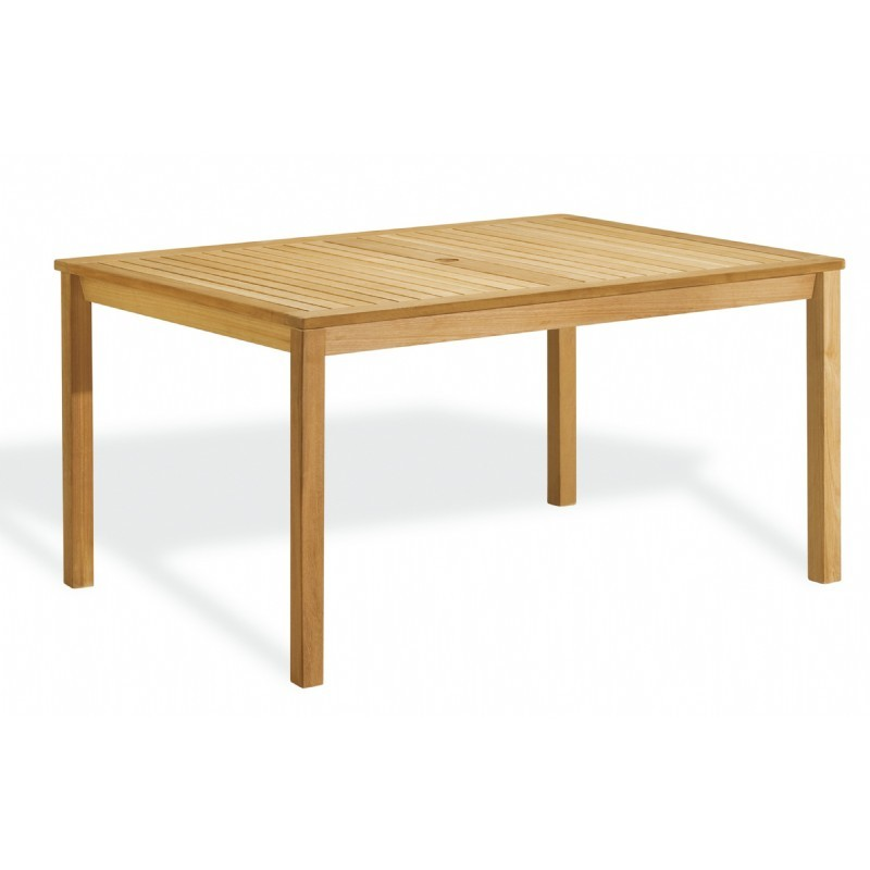 Shorea Wood Rectangle Outdoor Dining Table 58 inch