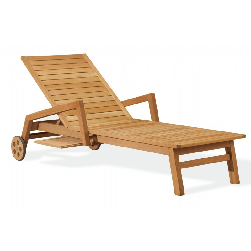 Shorea Wood Siena Outdoor Chaise Lounge
