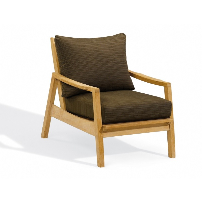 Outdoor Furniture: Club Chairs: Shorea Wood Siena Outdoor Club Chair