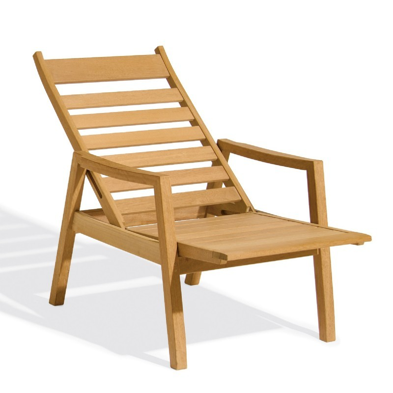 Shorea Wood Siena Outdoor Reclining Chair alternative photo #0