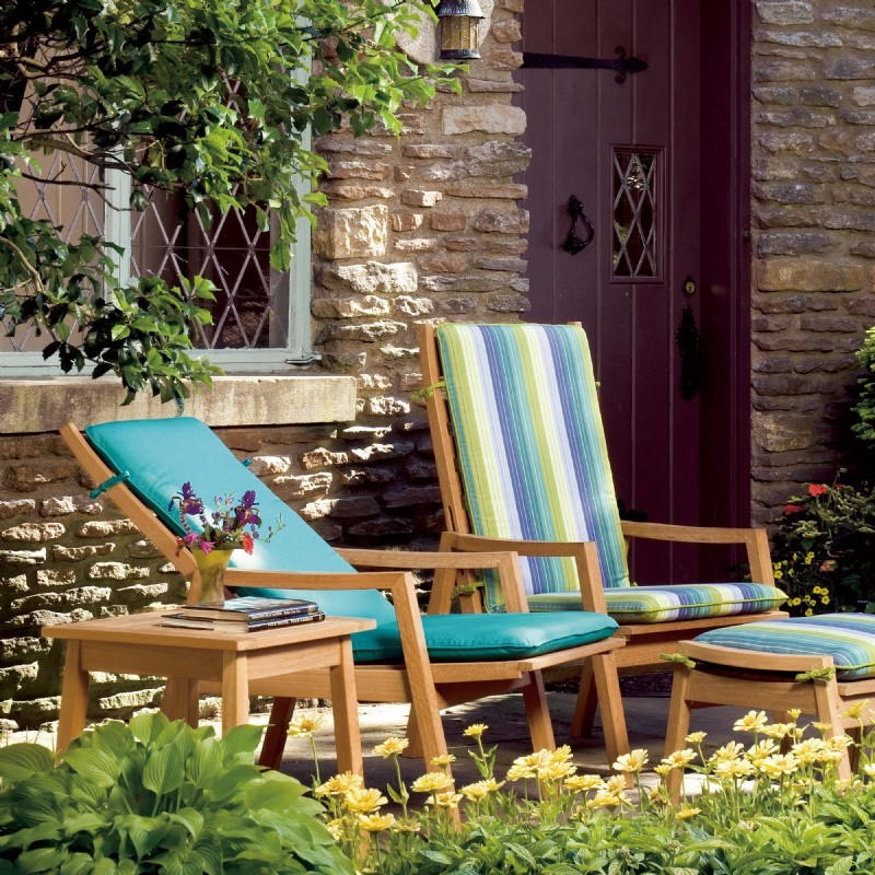 Shorea Wood Siena Outdoor Reclining Chair alternative photo #5