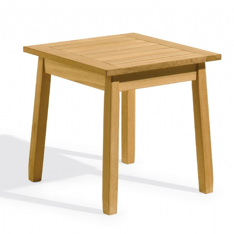 Shorea Wood Siena Square Outdoor End Table 20 inch : Coffee Tables