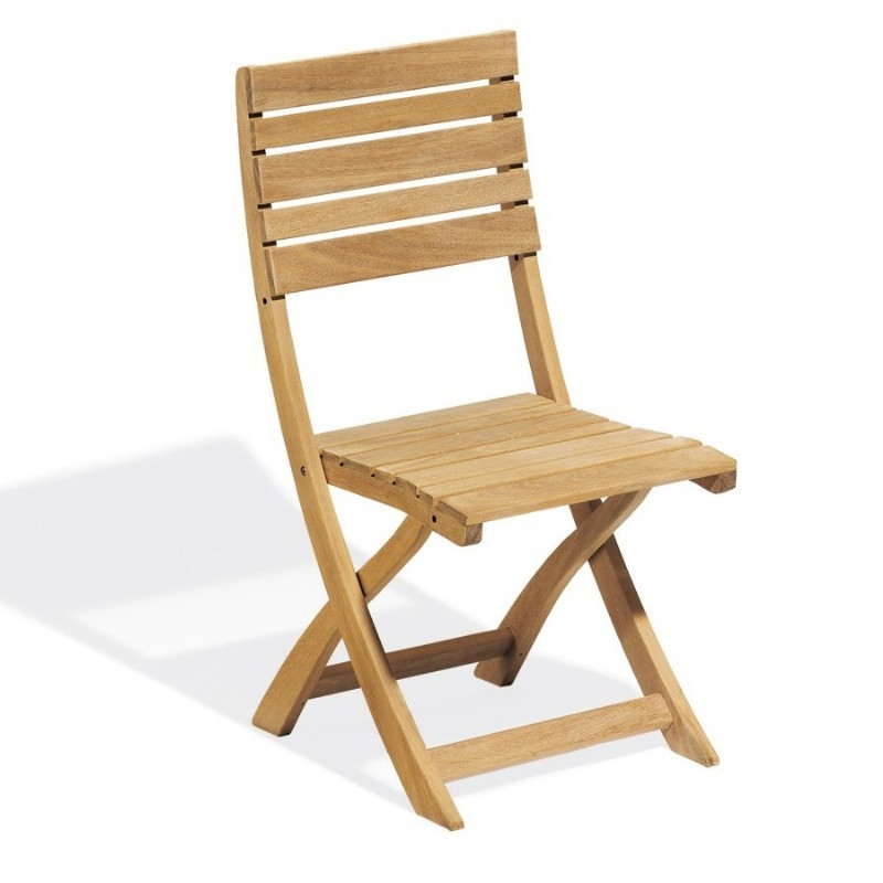Outdoor Folding Chairs for Heavy People: Oxford Garden Somerset Outdoor Folding Side Chair