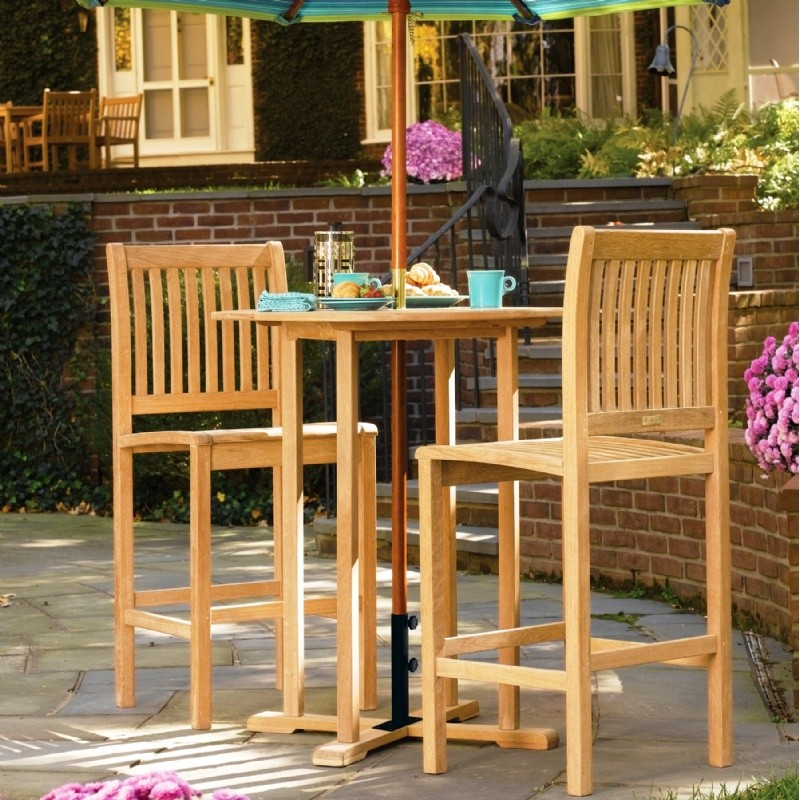 Outdoor Furniture: Bistro Sets: Shorea Wood Sonoma Outdoor Bar Set 3 piece