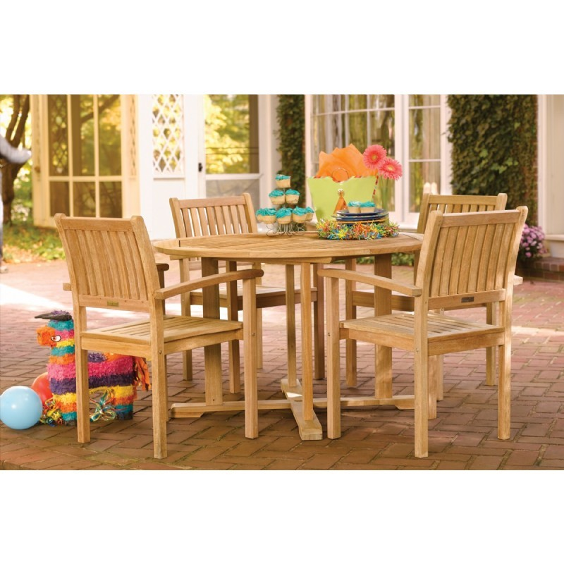 Shorea Wood Warwick Outdoor Dining Set 5 Piece : Pool Furniture Sets