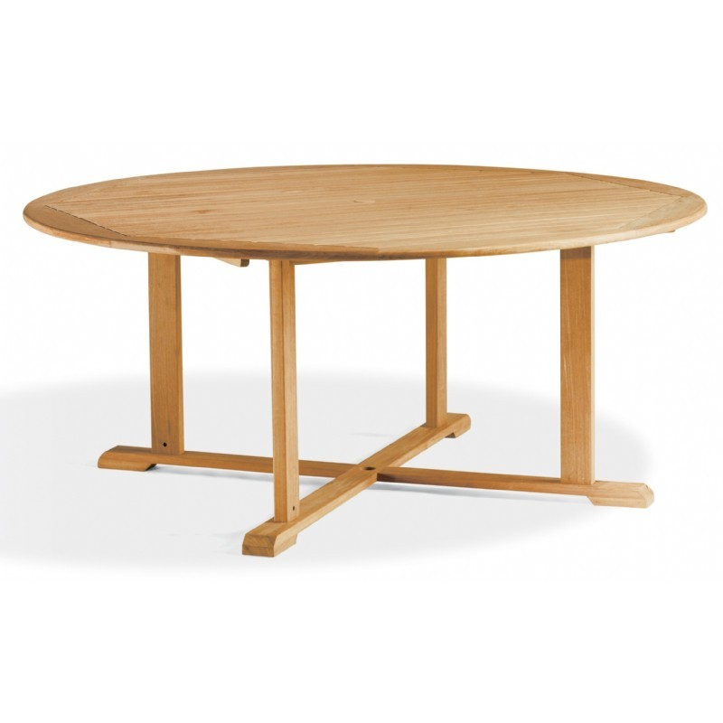 Shorea Wood Round Outdoor Dining Table 67 inch