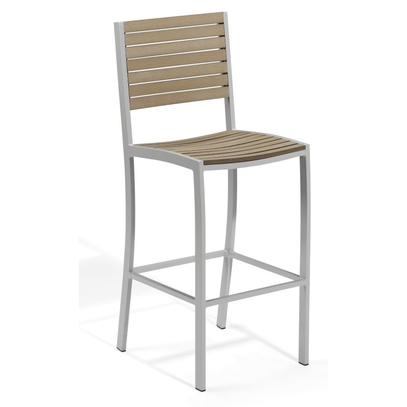 What's hot on outdoor furniture products: Bar Stools: Travira Aluminum Tekwood Vintage Outdoor Bar Chair