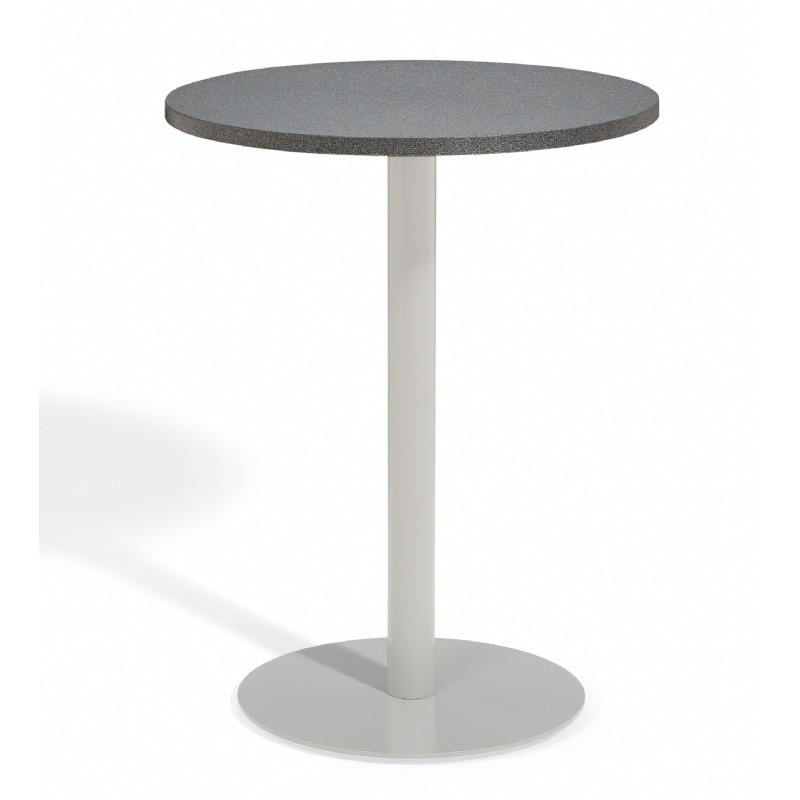 What's hot on outdoor furniture products: Round Dining Tables: Travira Aluminum Alstone Graphite Top Outdoor Bar Table 32 Inch