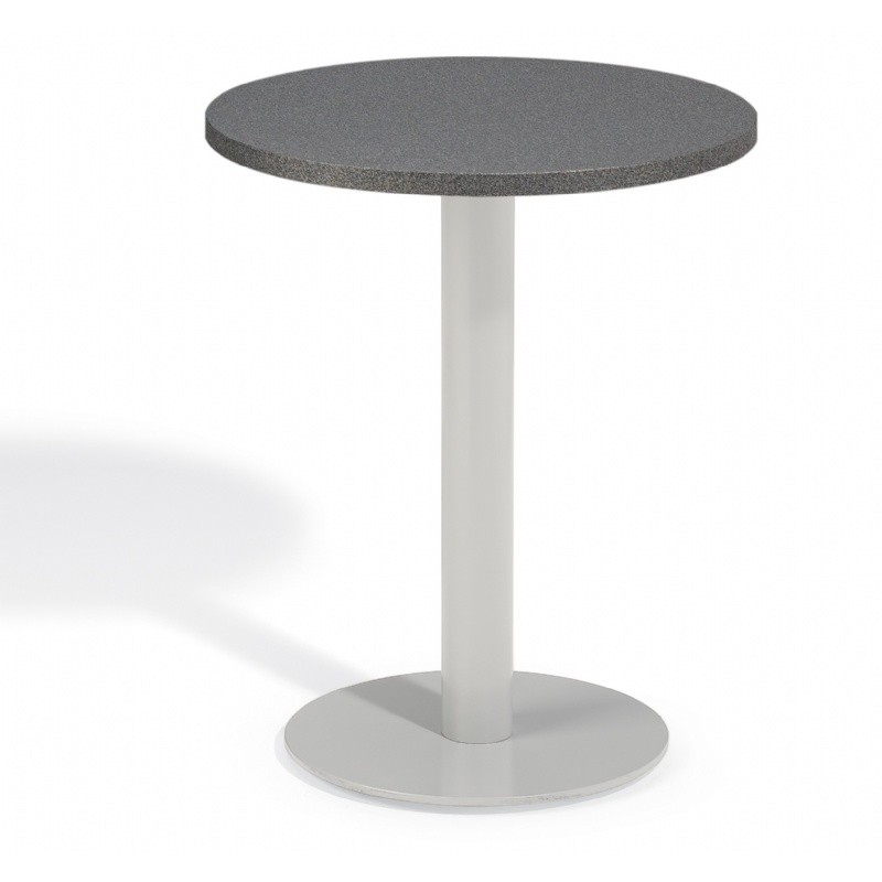 Travira Steel Alstone Graphite Top Outdoor Bistro Table 24 Inch