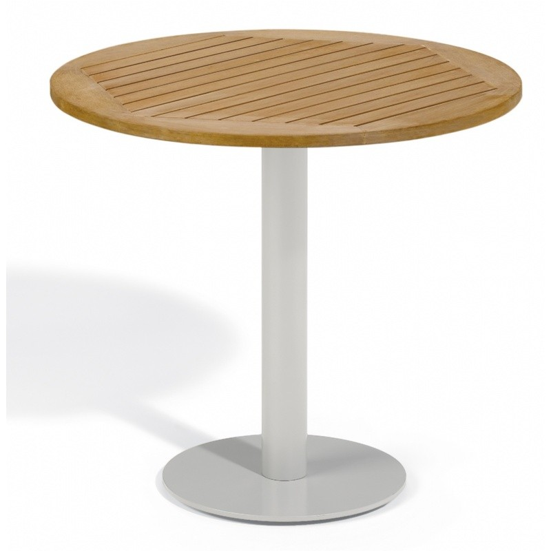 Travira Steel Tekwood Natural Top Outdoor Bistro Table 32 Inch