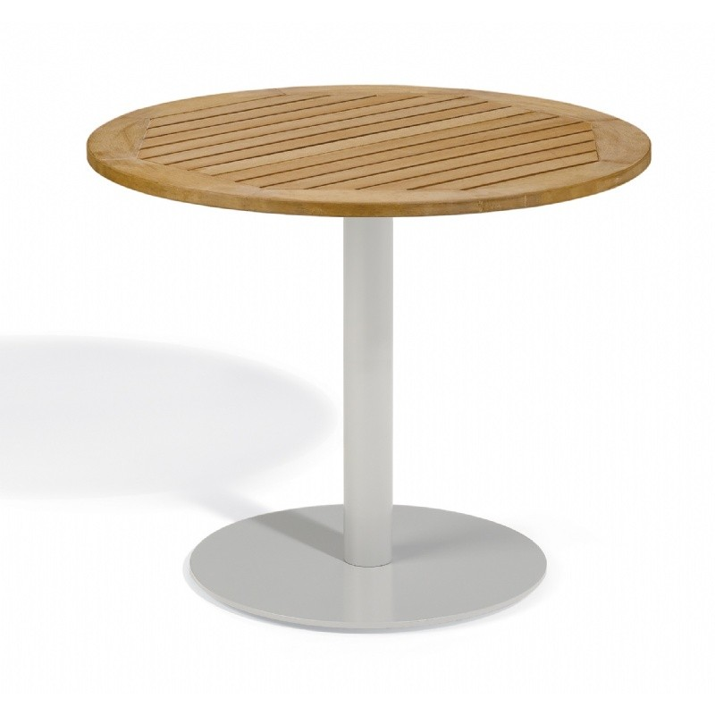 Travira Steel Tekwood Natural Top Outdoor Bistro Table 36 Inch