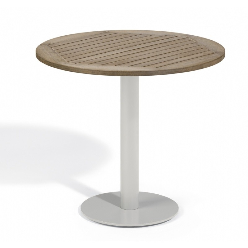 Travira Steel Tekwood Vintage Top Outdoor Bistro Table 32 Inch