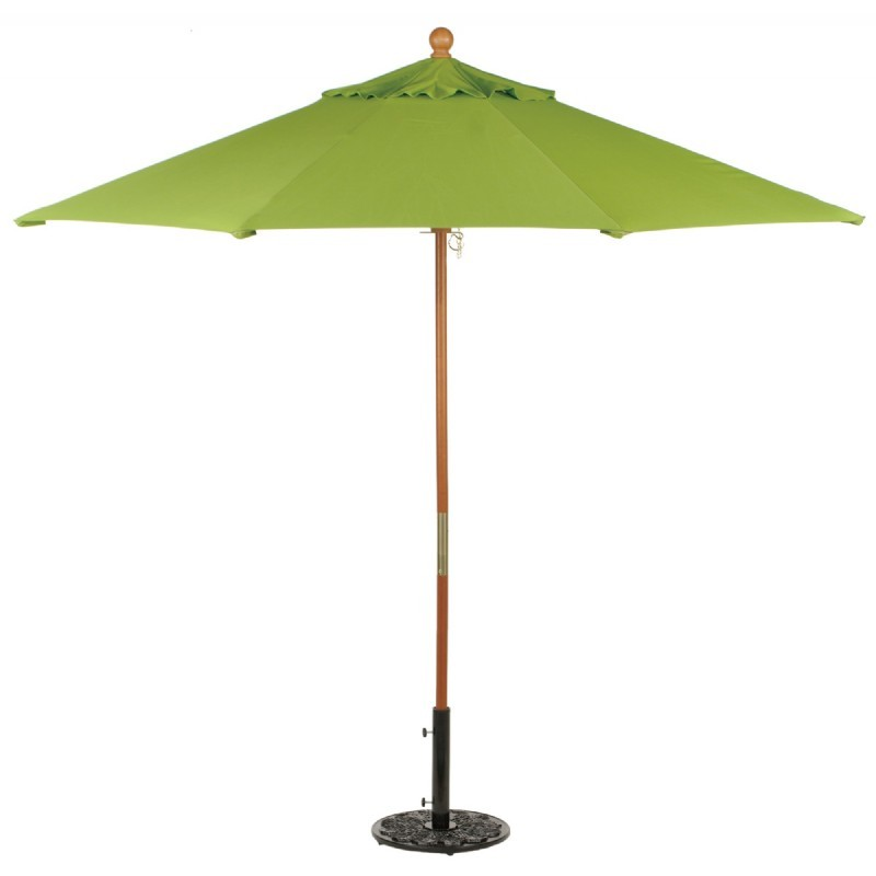 Commercial Wood Pole Octagon Market Umbrella 9 Feet Shade