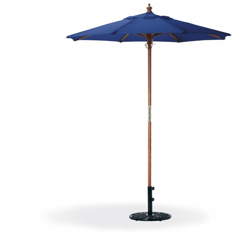 Wood Pole Octagon Patio Umbrella 6 Feet Polyester Shade
