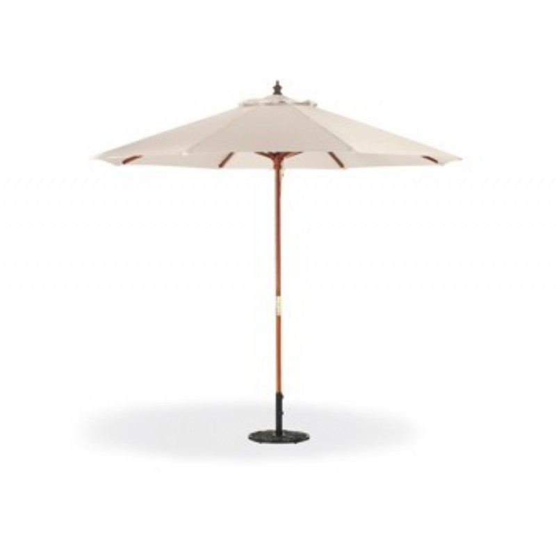 Commercial Wood Pole Octagon Patio Umbrella 9 Feet Polyester Shade