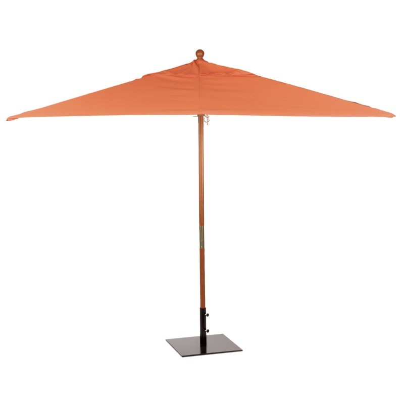 Commercial Wood Pole Rectangle Market Umbrella 10 Feet Shade