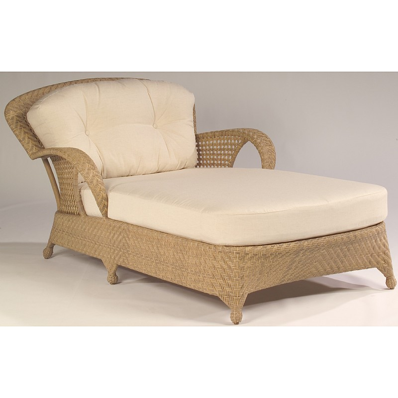 Boca Outdoor Wicker Chaise an a Half