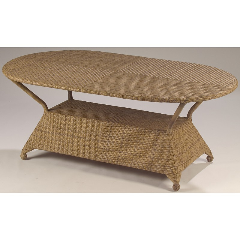 Boca Outdoor Wicker Oval Dining Table 72 inch