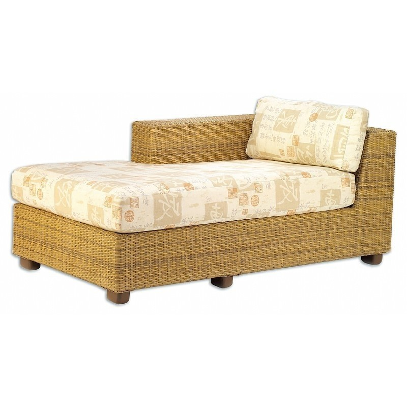 Outdoor Furniture: Sectional Outdoor Furniture: Montecito Outdoor Wicker Chaise Sectional Right Arm