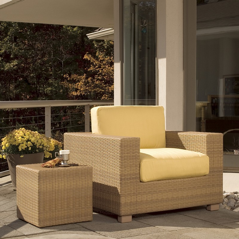 Montecito Outdoor Wicker Club Chair : Patio Chairs
