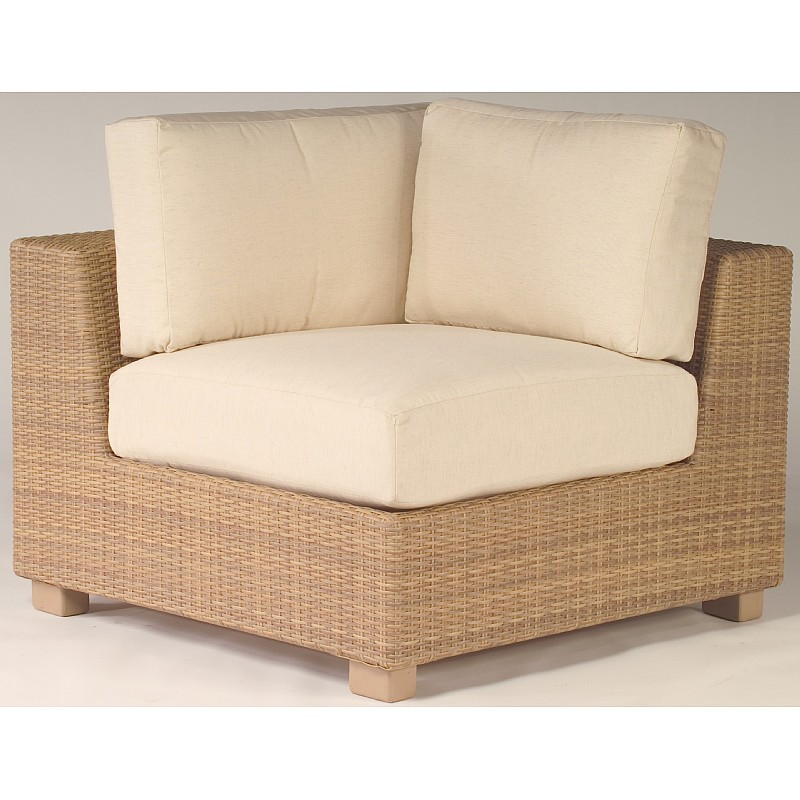 Outdoor Furniture: Sectional Outdoor Furniture: Montecito Outdoor Wicker Corner Sectional Unit