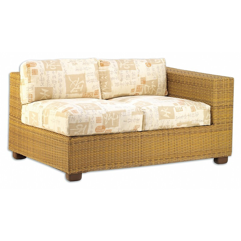 Montecito Outdoor Wicker Love Seat Sectional Left Arm