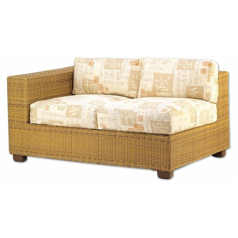 Montecito Outdoor Wicker Love Seat Sectional Right Arm