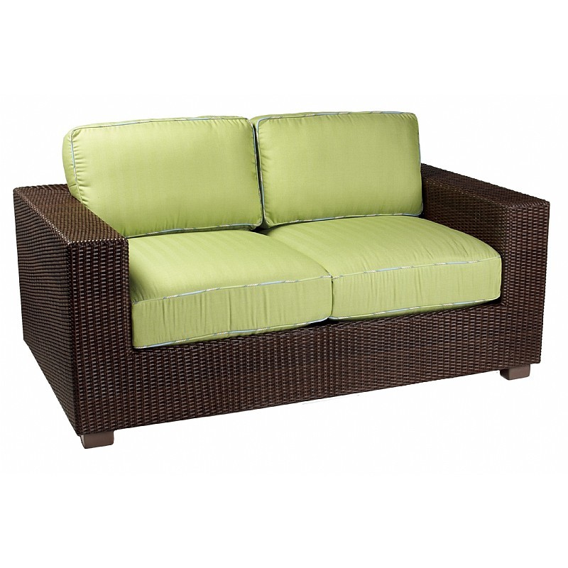 Montecito Outdoor Wicker Love Seat : Patio Chairs