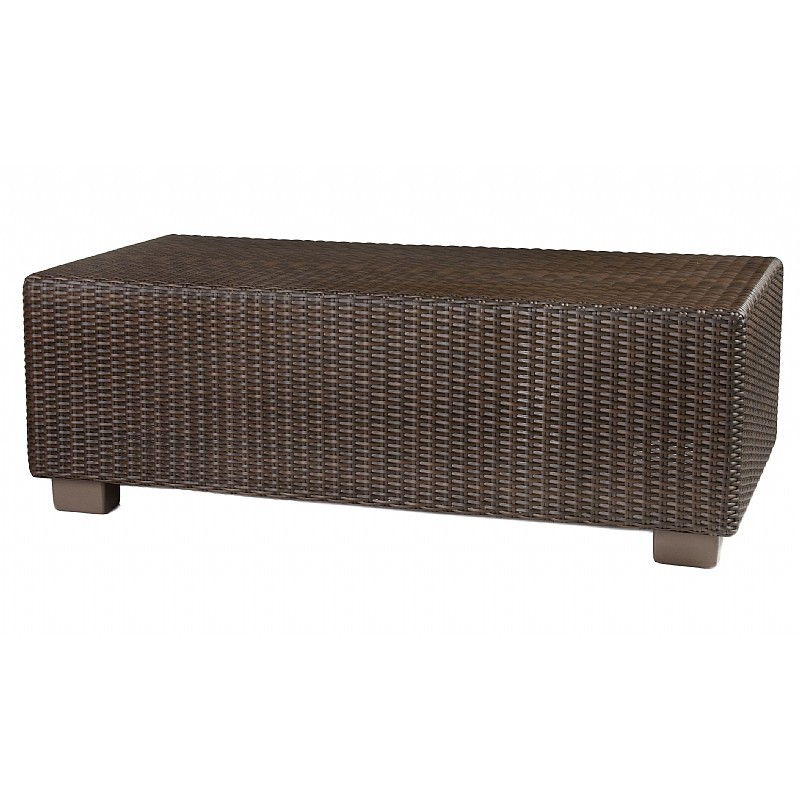 Montecito Outdoor Wicker Rectangle Coffe Table 42 inch.