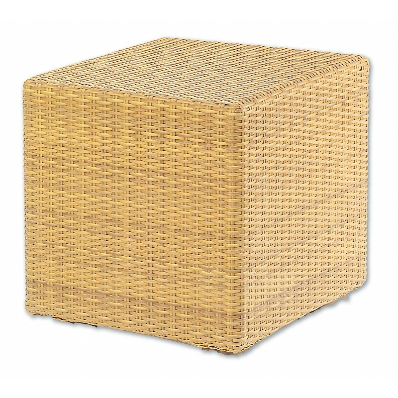 Montecito Outdoor Wicker Side Table 18 inch