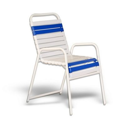 Strap Patio Stackable High Balcony Arm Chair White SFU-552-201