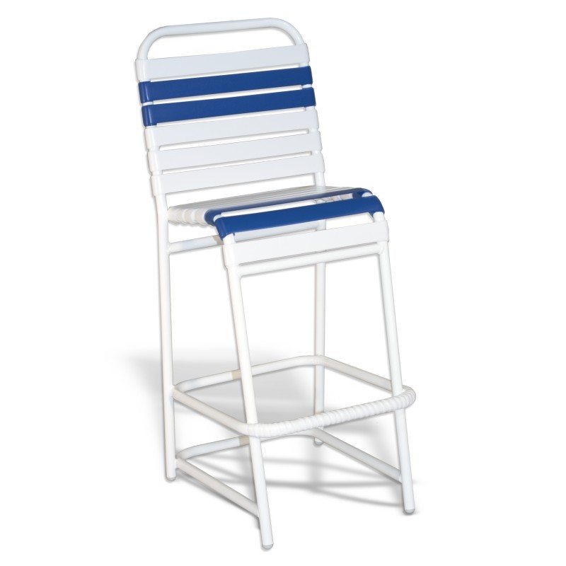 Bar High Aluminum Strap Chair White