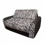 Fun Furnishings Black Zebra Sofa Sleeper FF-10209