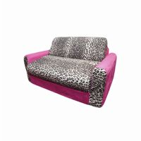 Fun Furnishings Pink Leopard Sofa Sleeper With Pillows FF-11208