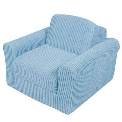 Fun Furnishings Blue Chenille Chair Sleeper FF-20310
