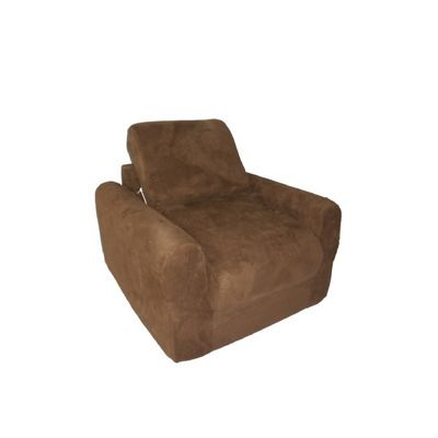 Fun Furnishings Brown Micro Suede Chair Sleeper FF-20247