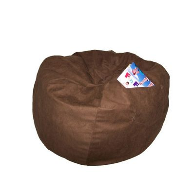 Fun Furnishings Brown Micro Suede Large Beanbag FF-41247