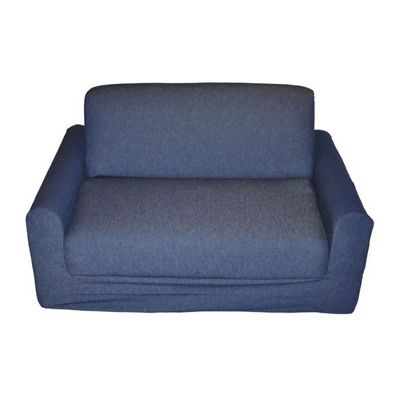 Fun Furnishings Denim Sofa Sleeper With Pillows FF-11101
