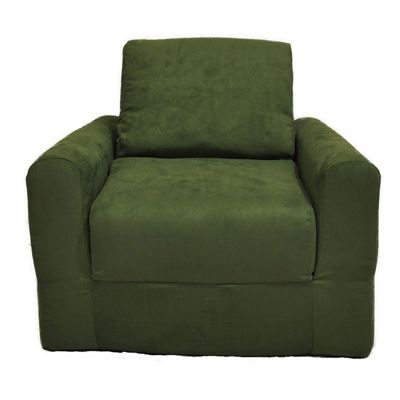 Fun Furnishings Green Micro Suede Chair Sleeper FF-20233