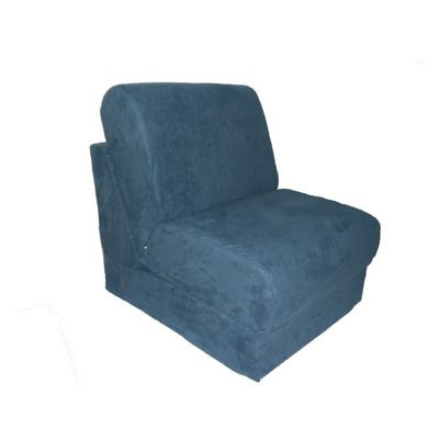 Fun Furnishings Navy Micro Suede Teen Chair FF-50234