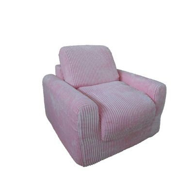 Fun Furnishings Pink Chenille Chair Sleeper FF-20302